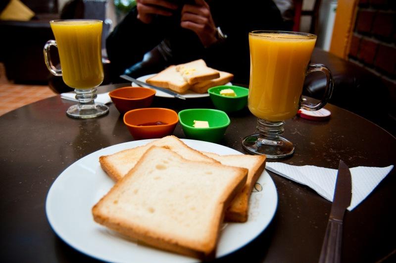 簡單的早餐配smoothie
