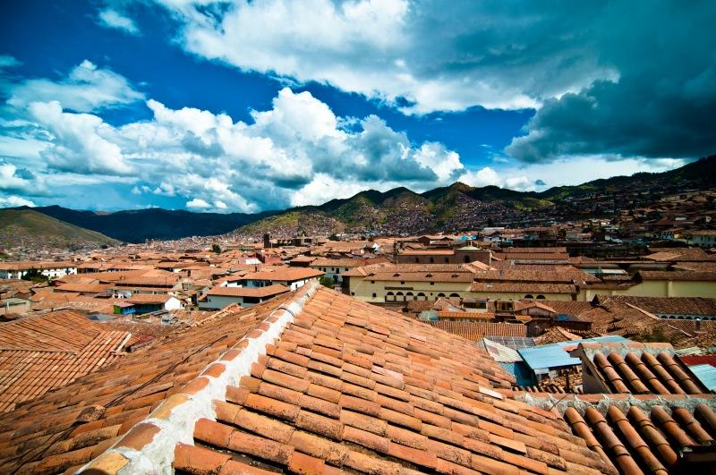 雨季剛過, 但由於山區氣候的特殊性,Cusco午後常會時晴時雨, 今天初來訪, 下午就下了一場夾著冰雹的大驟雨, 大雨過後的天空很美!