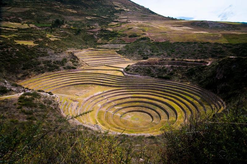 Moray的圓形梯田, 據說是印加人的農業試驗區,  但我們覺得這裡比較似是能量集散的地方。
