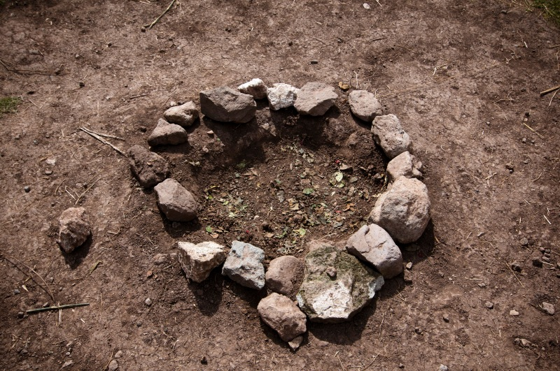 圓心的中央, 據說是能量最高的地方。