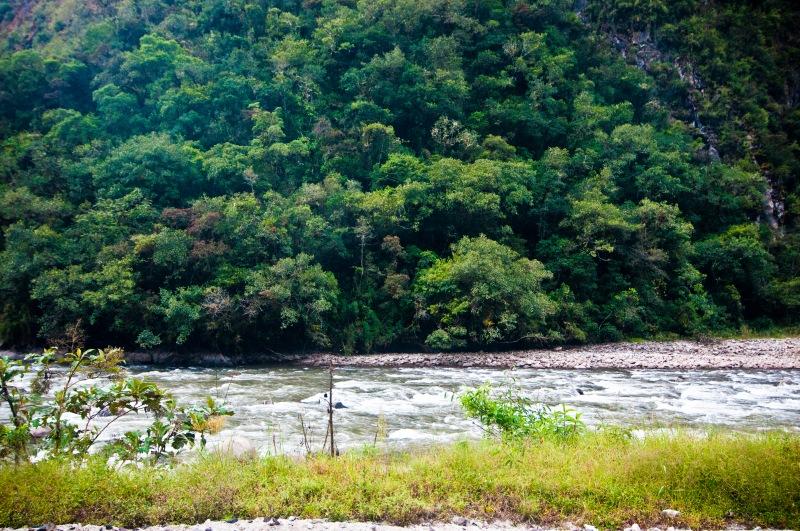 前晚夜班火車錯過了Urubamba河的壯麗景色